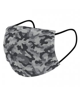 Disposable camouflage mask - ASTM level III 50 / box
