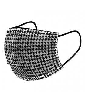 Disposable Houndstooth Mask - ASTM Level III 50 / box