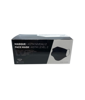 Blakc disposable surgical mask - Level II 50/box