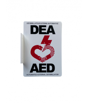 AED bilingual wall sign