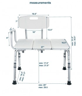 Transfer Bath Bench with Back