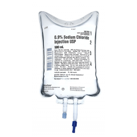 Solute - NaCl 0.9% saline solution