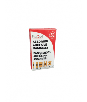 Assorted fabric and plastic band aid