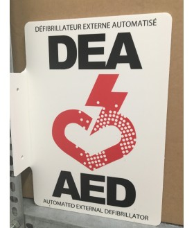 AED bilingual wall sign Wall Signs