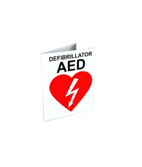 AED Wall Sign, corner V, 8x6 (SIGN-C1-XX) Accessories for LIFEPAK and Zoll