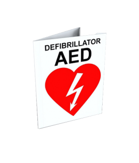 AED Wall Sign, corner V, 10x7.5 (SIGN-C2-XX) Accessories for LIFEPAK and Zoll