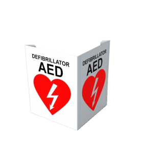 AED Wall Sign, tent, 10x7.5 (SIGN-F2-XX) (FP) Wall Signs