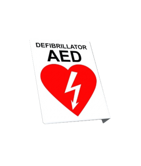 AED Wall Sign, recto/verso, 10x7.5 (SIGN-R2-XX)