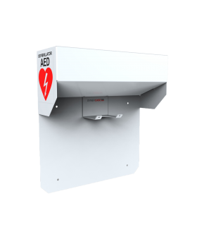 Wall Mount Bracket, white, French label - AED (Defibrillator) LIFEPAK CR Plus or LIFEPAK Express Accessories