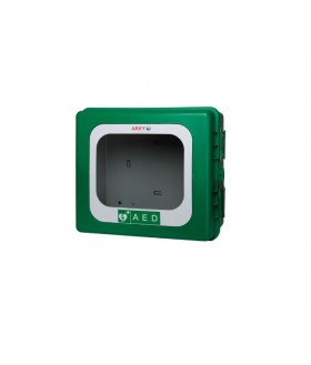 Green ARKY AED Outdoor Cabinet