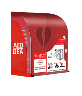 Red AIVIA AED Outdoor Cabinet